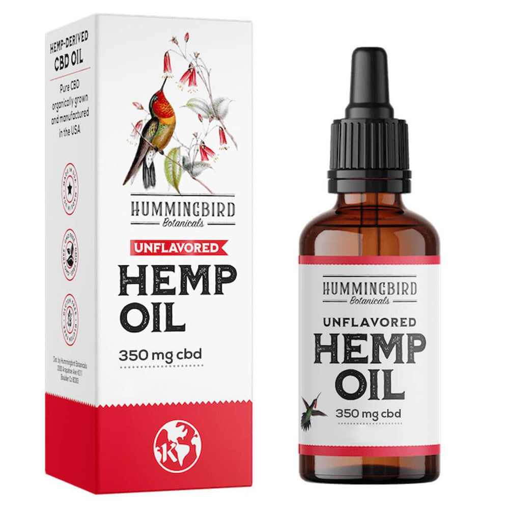 Full Spectrum Hemp Oil Unflavored - Hummingbird Botanicals