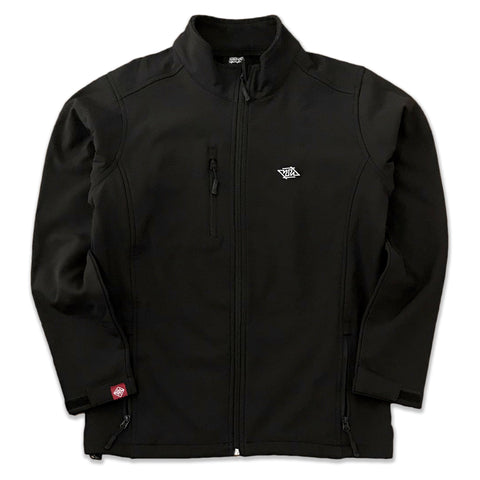 SOFTSHELL ZIP-UP SWEATSHIRT BLACK