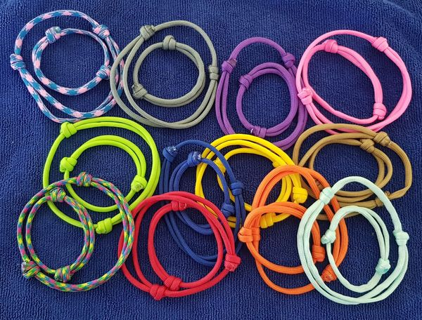12 New born & 12 regular paracord Puppy ID Collars - Puppy Collars & Things