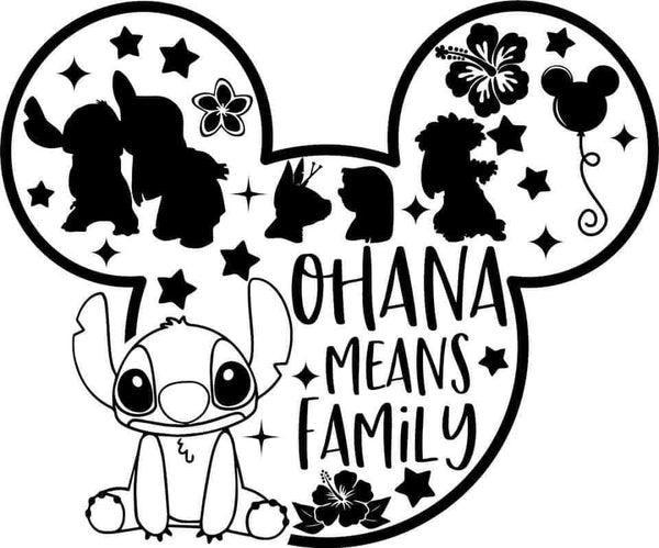 Ohana Means Family Decal
