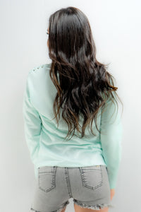 Soft Turquoise Pullover