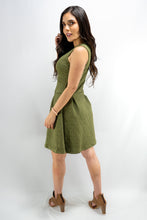 Load image into Gallery viewer, Olive Sleeveless Above Knee Cocktail Dress