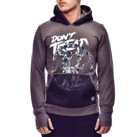 Grey Hoodie Sweater with Thumb Hole - Zzyzx Road Apparel
