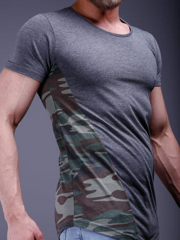 Camouflage Oversized Wide Neck T-Shirt - Zzyzx Road Apparel