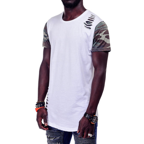 Camouflage Sleeve T-Shirt - Zzyzx Road Apparel
