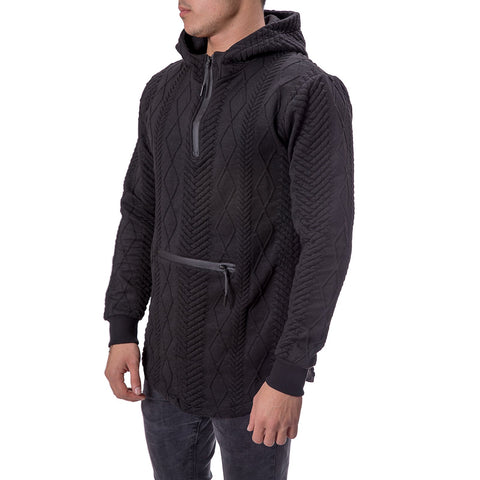 Hooded Curved Hem Sweater - Zzyzx Road Apparel