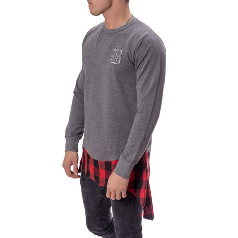 Plaid Extender Sweatshirt - Zzyzx Road Apparel