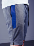 Waistband and Drawstring Striped Shorts - Grey - Zzyzx Road Apparel
