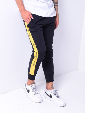 Black Jogger Sweatpants with Side Stripes - Zzyzx Road Apparel