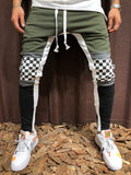 Jogger Sweatpants with Block Colored and Checkered Knee - Zzyzx Road Apparel