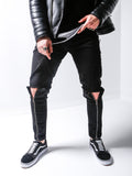 Black Skinny Zipper Detail Jeans - Zzyzx Road Apparel