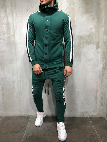 Turtleneck Cotton Tracksuit Hooded - Zzyzx Road Apparel
