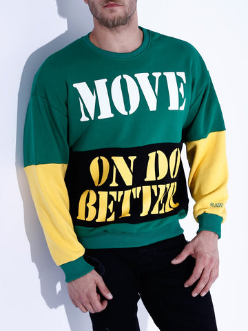 Type Print Sweatshirt - Black & Green - Zzyzx Road Apparel