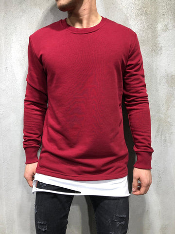 Extended Sweatshirt With Ripped Detail - Zzyzx Road Apparel