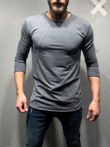 Grey Oversized Long Sleeve T-Shirt - Zzyzx Road Apparel