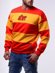 Red and Yellow Bee Design Oversized Sweatshirt - Zzyzx Road Apparel