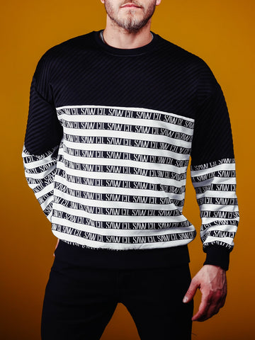 Striped Oversized Sweatshirt Striped - Zzyzx Road Apparel