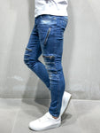 Distressed Jeans  With Zipper Accessories - Zzyzx Road Apparel