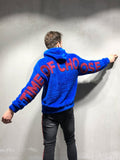 Blue Oversized Hooded Plush Sweatshirt - Zzyzx Road Apparel