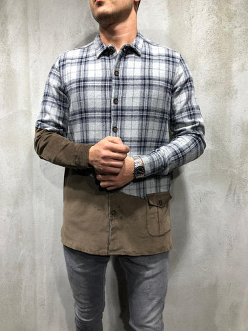 Check Shirt with Canvas Patch Extension - Zzyzx Road Apparel