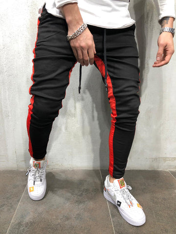 Jogger Jeans with Red Stripes - Zzyzx Road Apparel