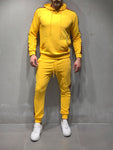 Yellow Tracksuit With Stripe Details - Zzyzx Road Apparel