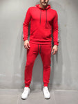 Red Tracksuit Checkered with Stripe Details - Zzyzx Road Apparel