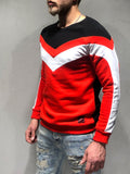 Red Sweatshirt with Stripe Details - Zzyzx Road Apparel