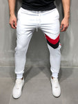 Striped Sweatpants Plain Design - White - Zzyzx Road Apparel