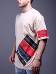 Beige Printed Oversized T-Shirt - Zzyzx Road Apparel