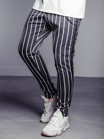 Striped Ankle Pants - Anthracite - Zzyzx Road Apparel