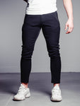 Black Ankle Pants With Side Zipper Detail - Zzyzx Road Apparel