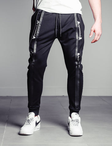 Black Jogger Pants With Zipper Detail - Zzyzx Road Apparel