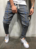 Checkered Sweatpants With Cargo Pocket - Zzyzx Road Apparel