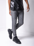 Striped Ankle Pants - Dark Grey - Zzyzx Road Apparel