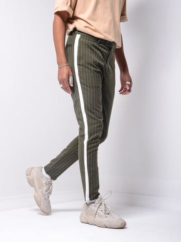 Striped Ankle Pants - Black - Zzyzx Road Apparel