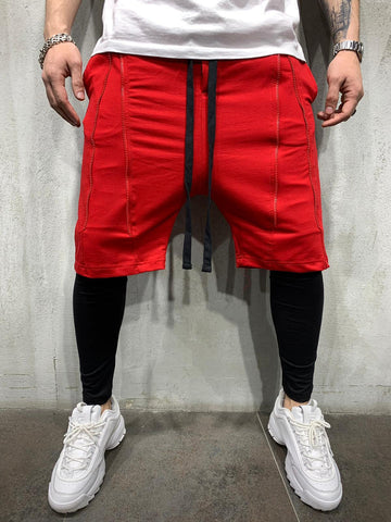 Red Shorts with Inset Leggings - Zzyzx Road Apparel