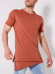 Brown Raglan Sleeve Layered T-Shirt - Zzyzx Road Apparel