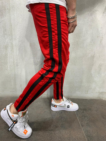 Striped Sweatpants - Red - Zzyzx Road Apparel