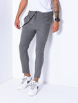 Gray Ankle Pants With Elastic Accessory - Zzyzx Road Apparel