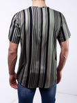 Striped Button-Up Shirt  - Grey & Black - Zzyzx Road Apparel