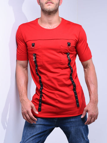 Red T-Shirt Crew Neck - Zzyzx Road Apparel