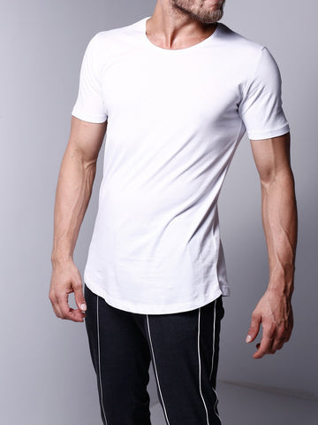 Basic White Crew Neck T-Shirt - Zzyzx Road Apparel
