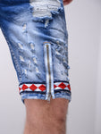 Bleached  Denim Shorts - Zzyzx Road Apparel