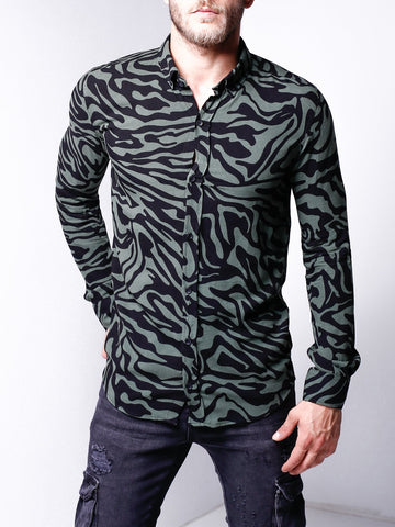 Revere Collar Patterned Shirt - Zzyzx Road Apparel