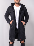 Washed Denim Coat - Black - Zzyzx Road Apparel