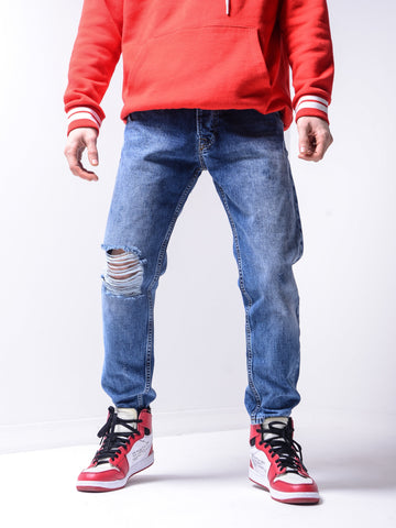 Ripped Jeans Light Wash - Zzyzx Road Apparel