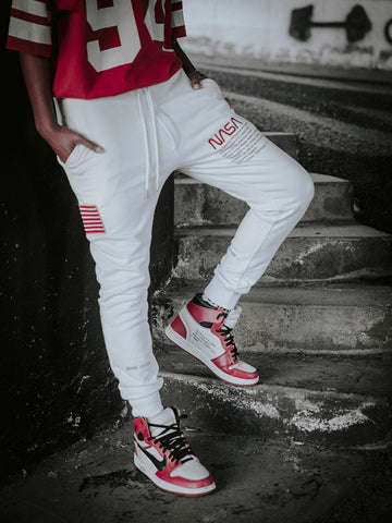 White NASA Sweatpants - Zzyzx Road Apparel