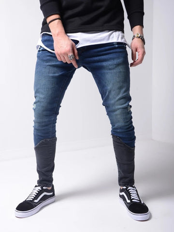 Skinny Ripped Jeans With Black Ankle Patch - Zzyzx Road Apparel