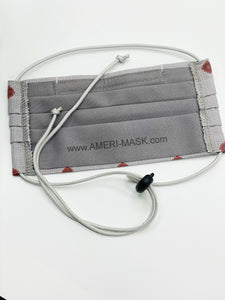 Masculine Grey & Garnet Design Face Mask designed by Laura Ford